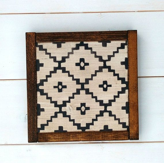 Geometric Wood Sign Aztec Decor Rustic Home Decor by Dwell605