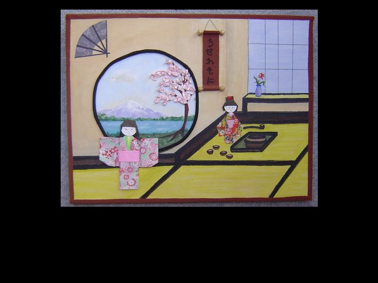 My Japanese mixed media picture