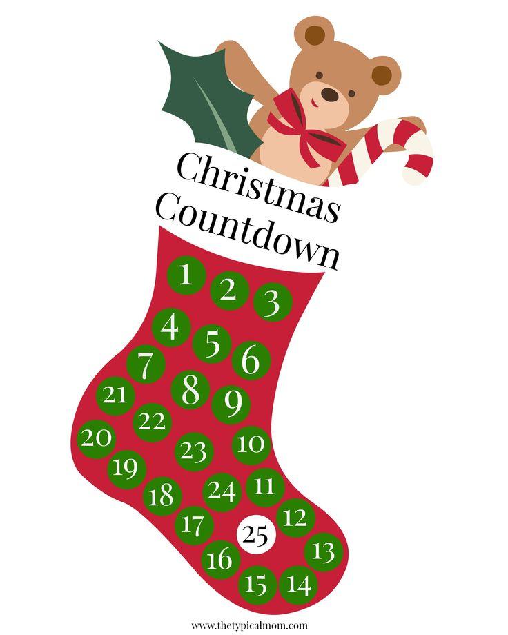 The 25+ best Printable countdown calendar ideas on Pinterest - countdown calendar templates