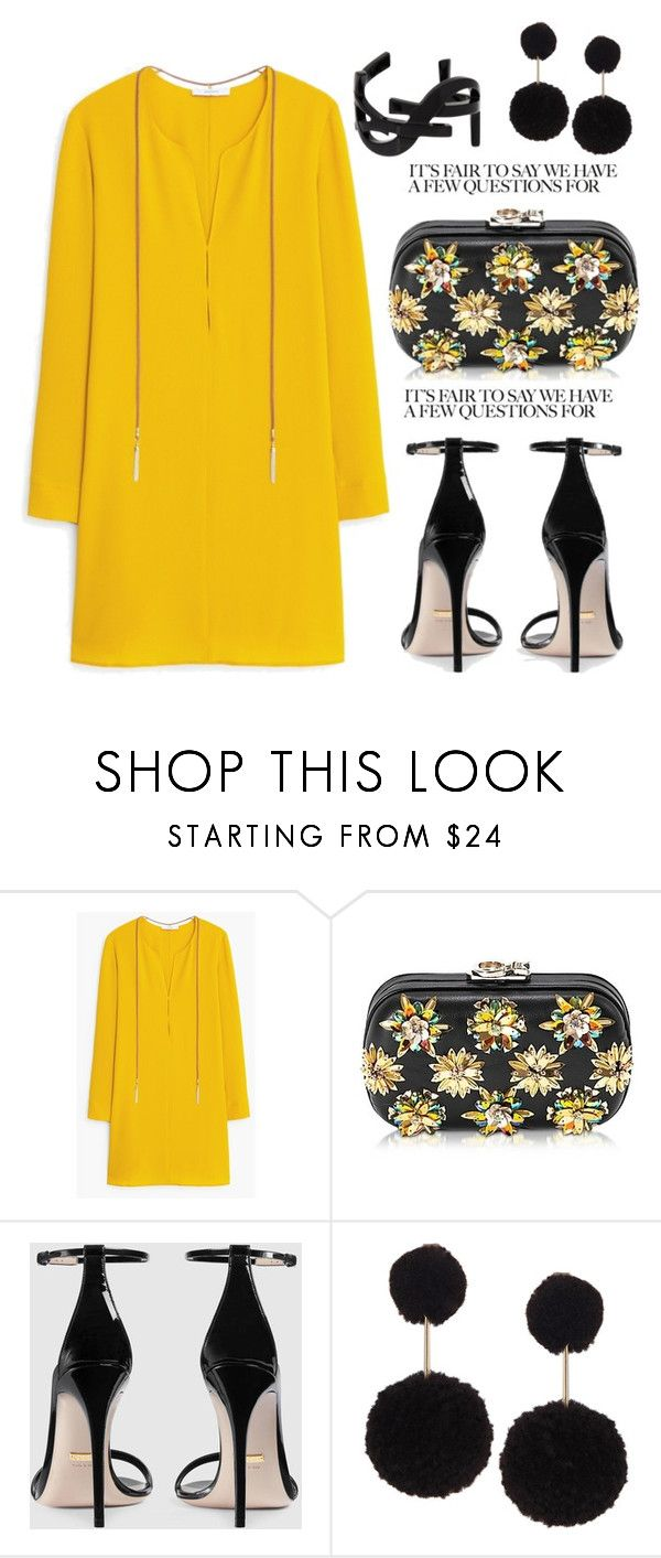 """Untitled #3606"" by janicemckay ❤ liked on Polyvore featuring MANGO, Corto Moltedo, Gucci, Humble Chic and Yves Saint Laurent"