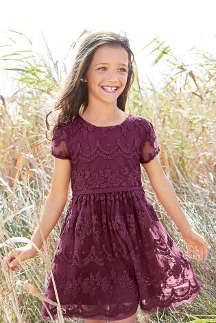 Whether a festive party or a meal out with family, your little one is guaranteed to make an entrance in this stylish plum Lace Dress from Next.