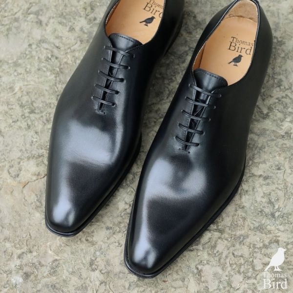 Black Wholecut Shoes | Thomas Bird
