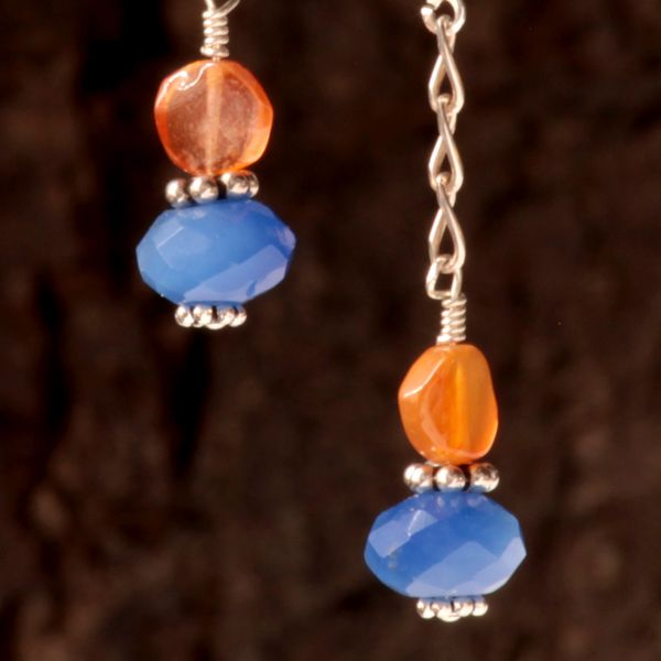 Orange Carnelian Earrings #funshopgifts #allthingsdetroit #askjennyfer #darlenesmithdesigns #funshopgifts