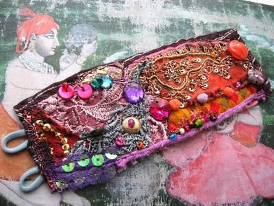 Gestival Gypsy bracelet- lace, sequins, beads