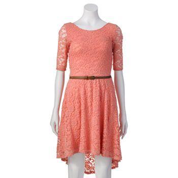 Juniors Rewind Lace Hi Low Dress Dresses Dresses Kohls Dresses