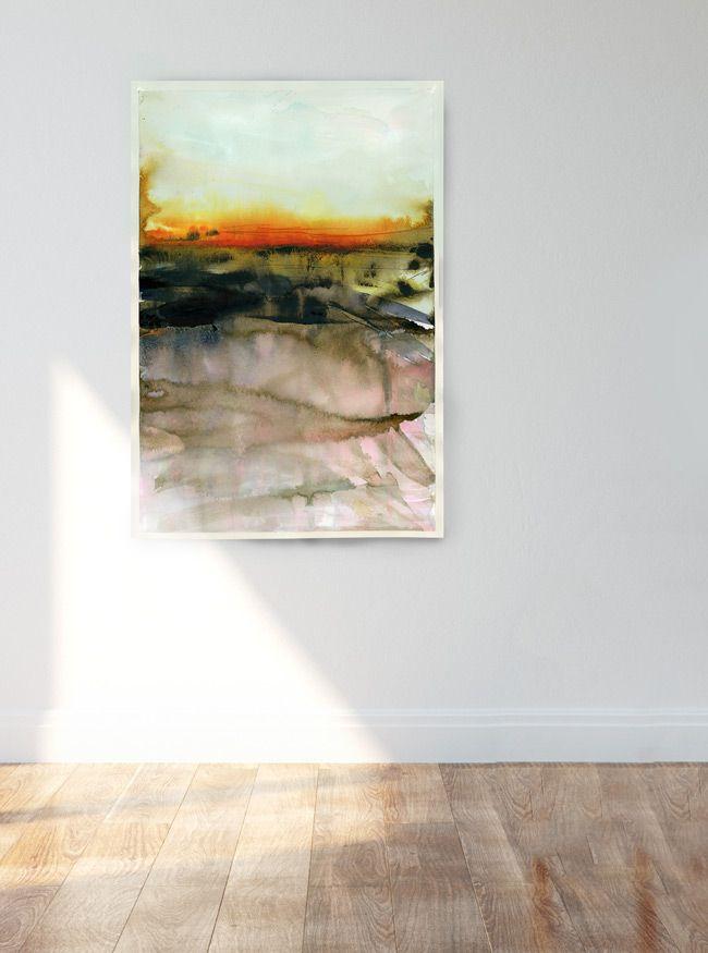 Abstract Watercolor Art : Landscape : Polish Soil :: Marta Spendowska :: VERYMARTA