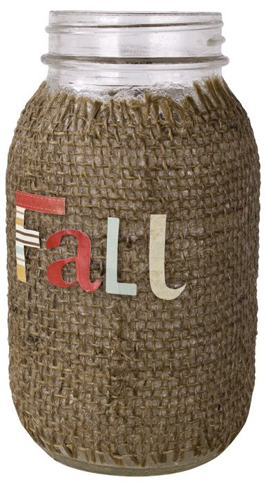 Fall Jar Vase project from DecoArt how to use BURLAP