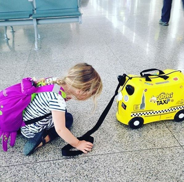 Traveling with kids becomes so much fun with our new Trunki suitcases! Tony the taxi is waiting for his first trip! #trunki