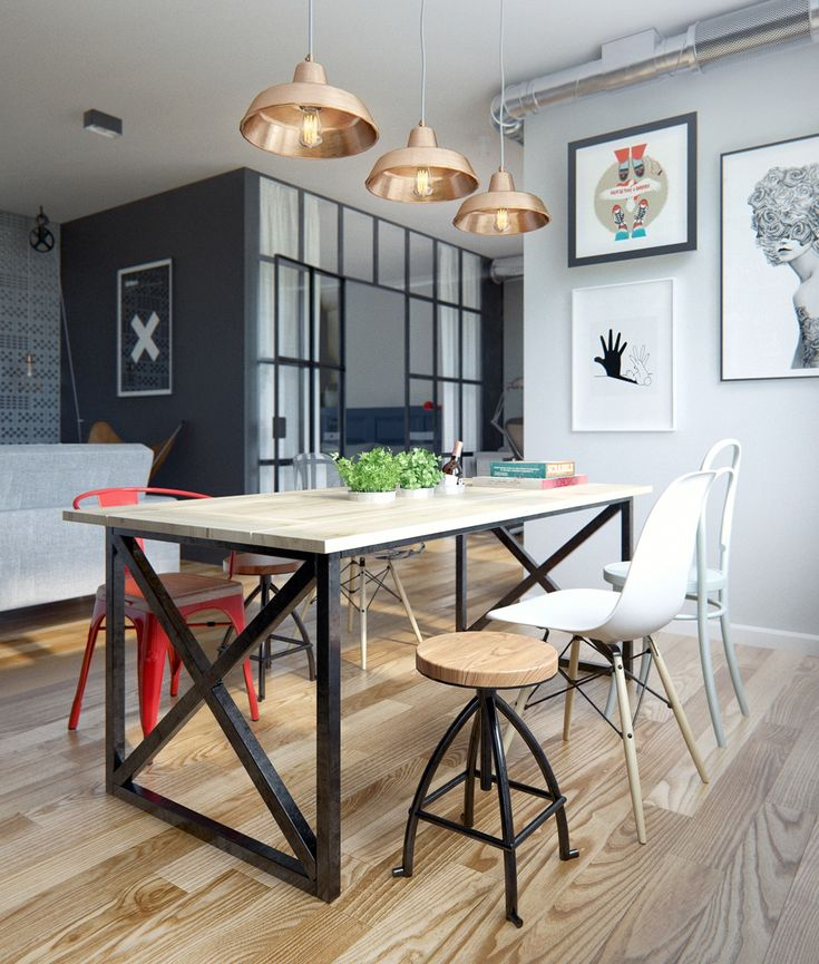 salle-a-manger-avec-luminaires-suspension