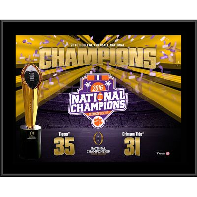 "Clemson Tigers Fanatics Authentic College Football Playoff 2016 National Champions 10.5"" x 13"" Sublimated Plaque"