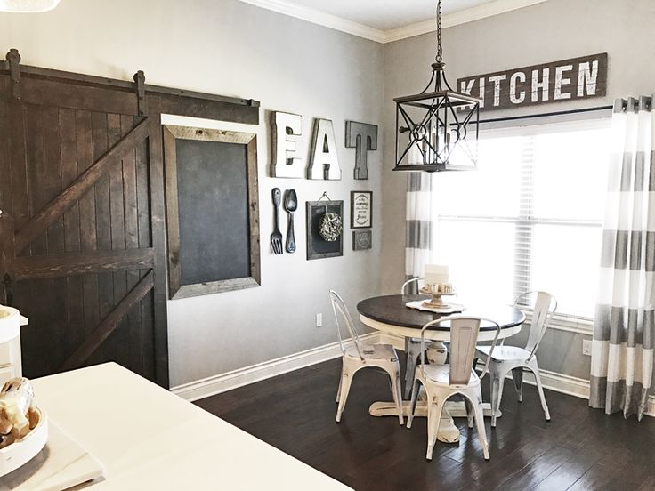 Create a gorgeous dining room gallery wall in a rustic farmhouse decor styled dining room. Complete with how to DIY the room and where to find the products.