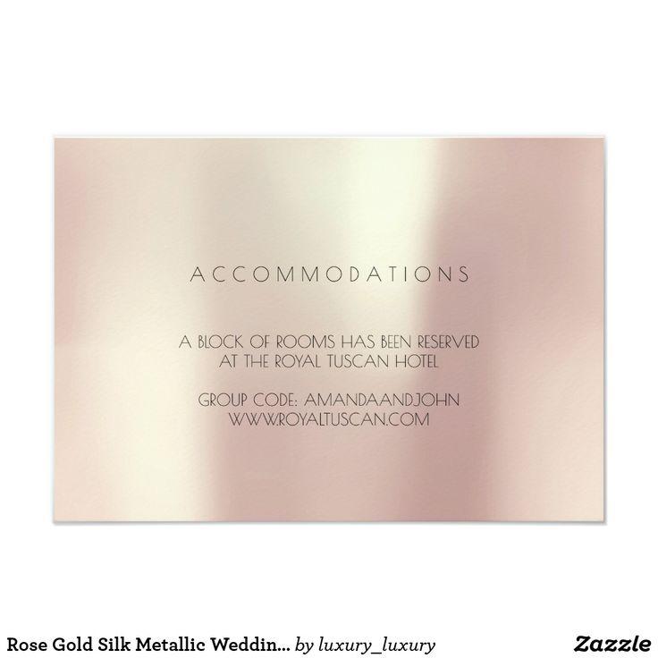 Rose Gold Silk Metallic Wedding Hotel Accomodation