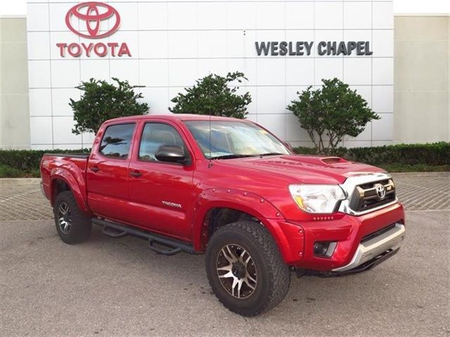 Certified Used 2014 Toyota Tacoma PreRunner 4D Double Cab for sale - only $22,994. Visit Wesley Chapel Toyota in Wesley Chapel FL serving Tampa, Lakeland and St. Pete #5TFJX4GN0EX033054