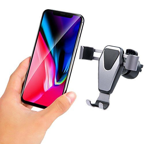 Car Phone Mount ANTAOLE Gravity Linkage Super Easy Smart Auto Lock One Hand Operate Air Vent Phone Holder Universal for iPhone X/8/Plus/7/6/6s Samsung Galaxy LG HTC and more