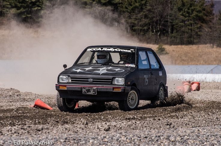 Subaru Justy racing Rally cross!  From Irish's M42 '85 318i rallycross Blog thread on R3VLIMITED