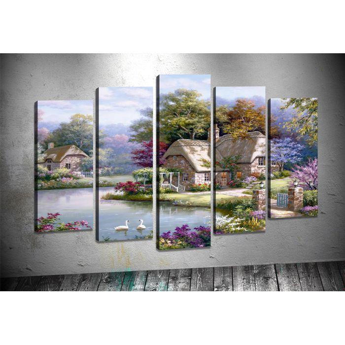 Art Shop Manzara 5 Parçalı Kanvas Tablo Prçdr23748 ürününü cazip taksit seçenekleri ile hemen satın alın!