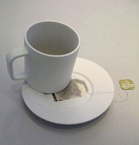 RIP tea bag. Tea bag coffin mug