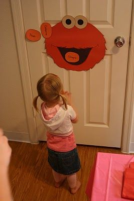 Pin the nose on Elmo