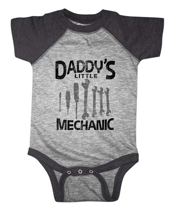 This Vintage Smoke 'Daddy's Little Mechanic' Tools Bodysuit - Infant by It's All Relative is perfect! #zulilyfinds