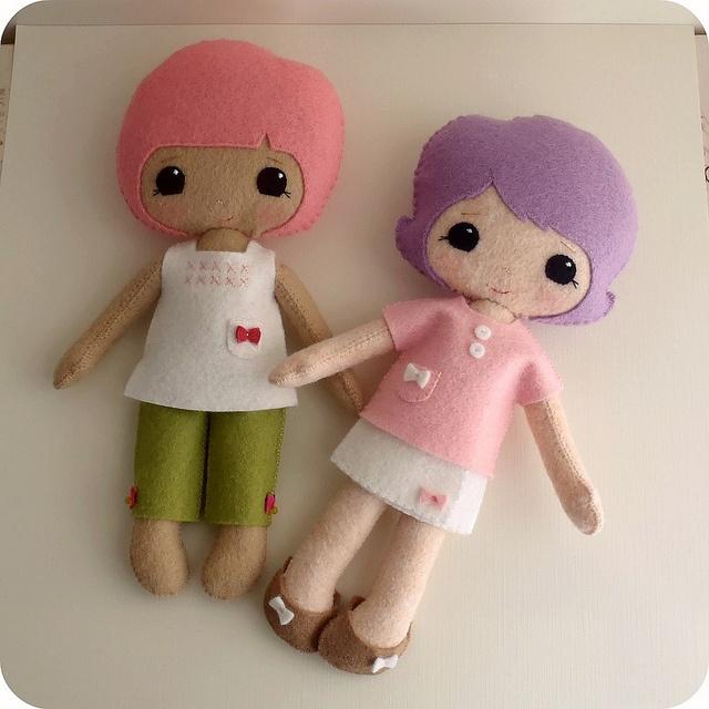Куклы из фетра gingermelon выкройки