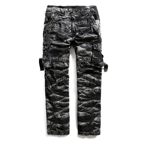Mens Cotton Army Comfortable Camo Plus Size Casual Cargo Pants