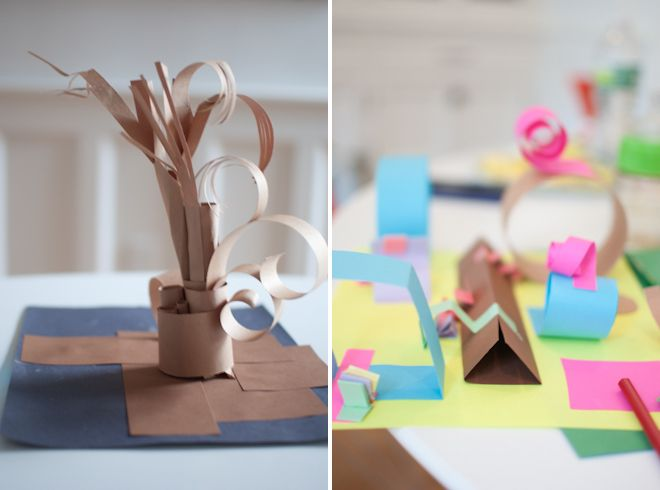 Construction papersculptures