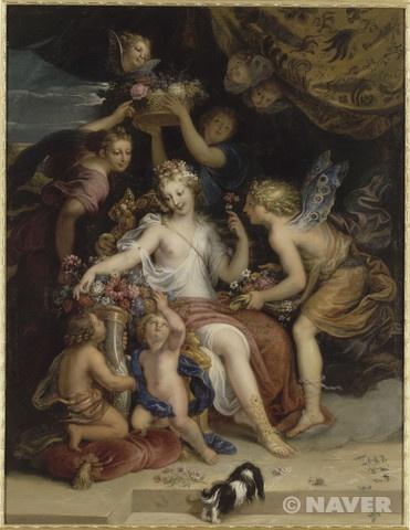 미쉘 코르네이유 1세 '제피로스와 플로라' 1688년 베르사이유와 트리아농 궁