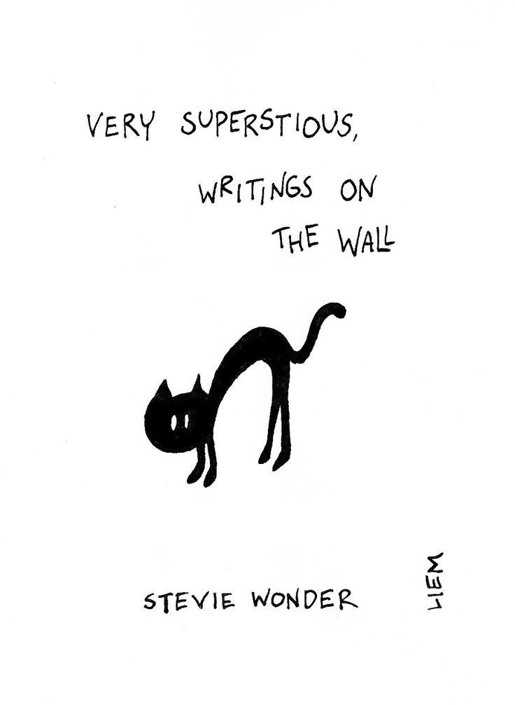 Stevie Wonder. Superstition. 365 illustrated lyrics project, Brigitte Liem.