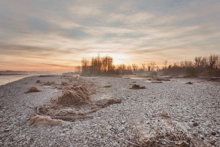 Piave River, sunset