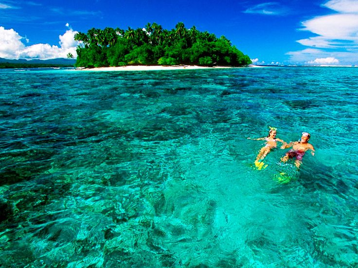 Beautiful snorkelling spot in crystal clear waters. Sinalei Reef Resort & Spa, Samoa  www.islandescapes.com.au