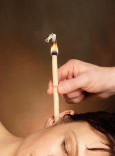 Ear candling- remove hard to get ear wax and sinus drainage!