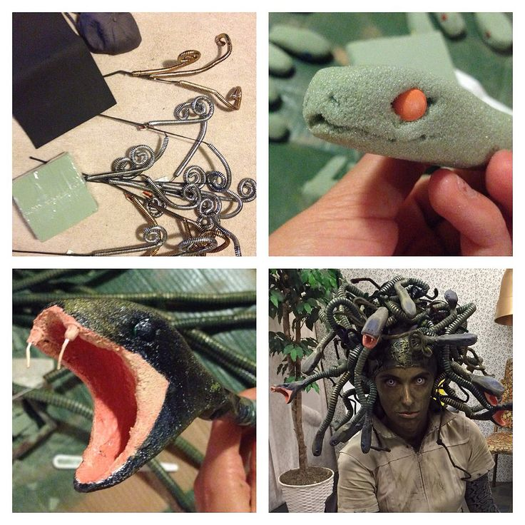 Medusa headpiece creation in a very small nutshell.
