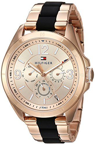 Tommy Hilfiger Womens SOPHISTICATED SPORT Quartz and Stainless Steel Casual Watch ColorRose GoldToned Model 1781770 -- Check this awesome product by going to the link at the image.