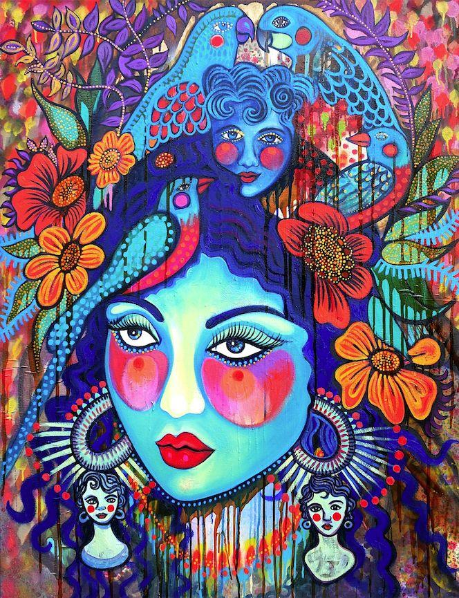 'Jungle Shiva (with Headdress)' by Sarah Hickey www.tuskgallery.com.au