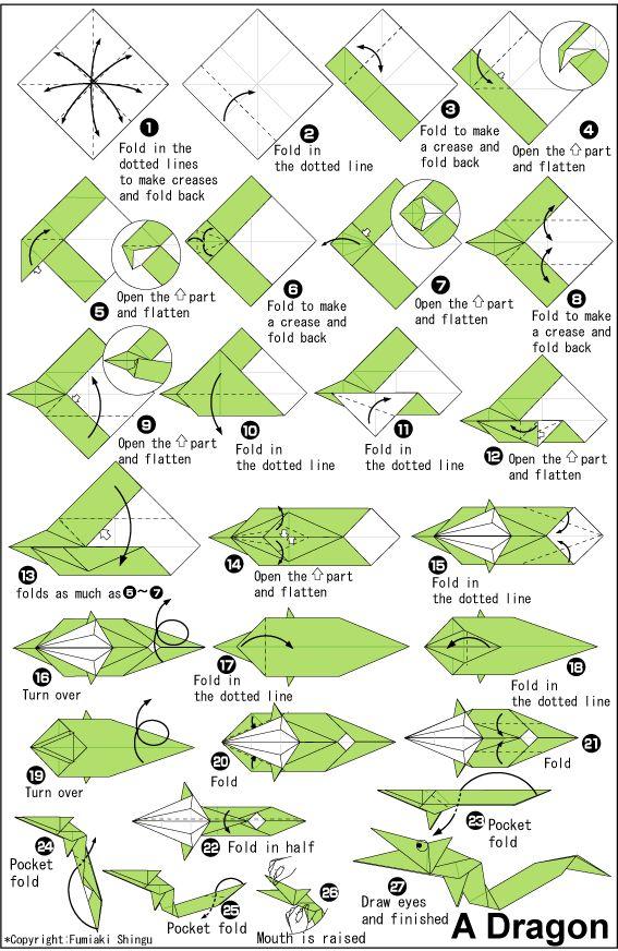 Draak origami