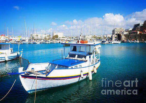 old port of #Heraklion, #Crete, #Greece by #AnastasyYarmolovichPhotography #travel