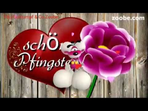 Liebe Grüße zu Pfingsten ❤ eine Pfingstrose für dich Diddl Maus Zoobe Animation - YouTube