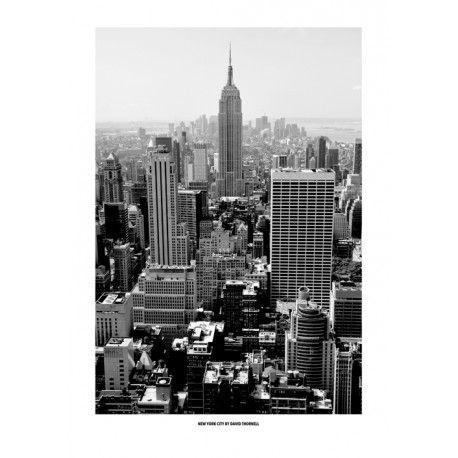 Svartvit New York. Snygga Posters. Inredning Online hos http://www.wallstars.se