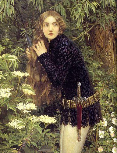 pre raphaelites | ELEANOR FORTESCUE BRICKDALE: ENGLISH PRE-RAPHAELITE SISTERHOOD: 1871 ... #pre-raphaelite