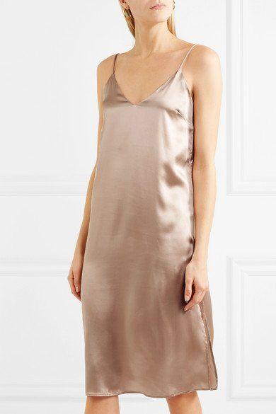 c168e7810754 ANINE BING Gemma silk-satin lustrous midi dress | ANINE BING ...