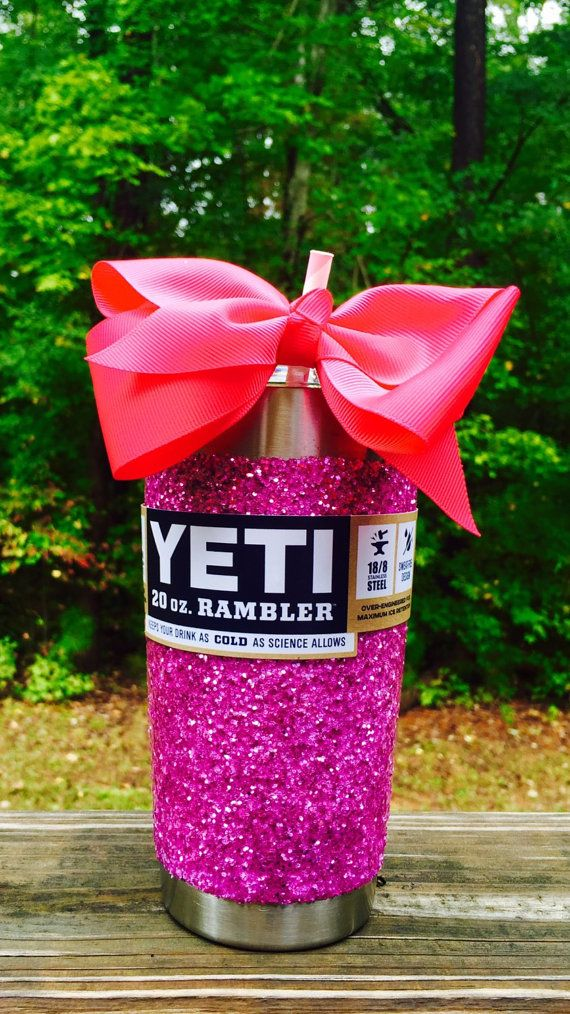 Glitter Yeti Rambler in Large Purple with Lid & by GlitterYeti