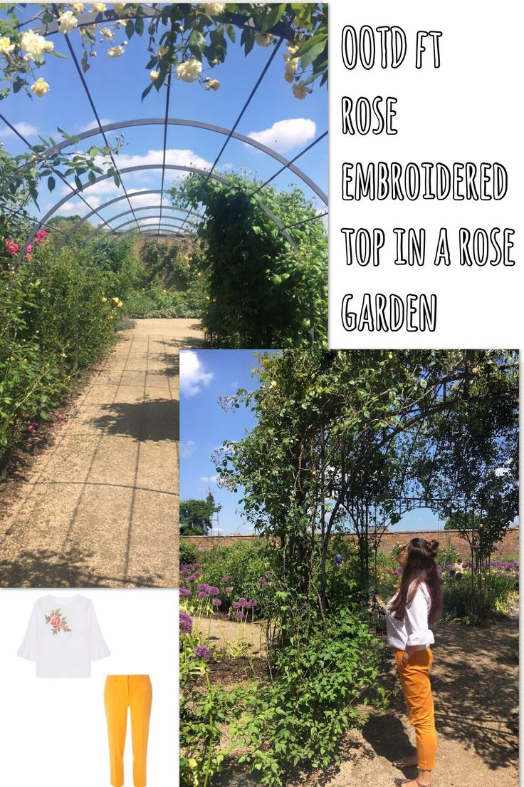 Embroidery is a massive trend this year, especially roses on tops. This Primark top goes perfectly with a coloured cropped trouser and is perfectly placed to explore Dunham Massey Rose Garden in.  #ootd #fashionbloggers #embroideredtop #primark