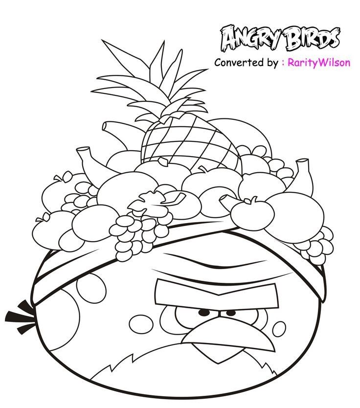 Angry Birds Rio Colouring Pages In 2020 Bird Coloring Pages