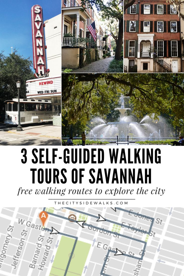 The best way to explore the streets of Savannah is by foot. Use these 3 self-guided walking tours of Savannah to create your own adventures around the city based on what you're looking for! Use these guides to find places to eat, where to take photos, and where to see the historical sites of Savannah.