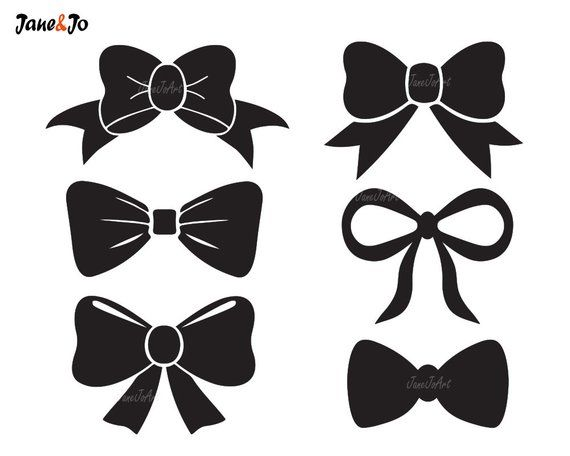 Bow tie silhouette. Svg file vector clipart