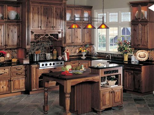 dark hickory kitchen cabinets