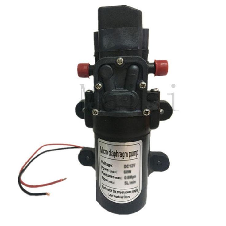 New Maisi Diaphragm High Pressure Small Electric Water Pump 12v Automatic Pressure Switch DC 80W 5.5L/Min For RV Boat Car Wash