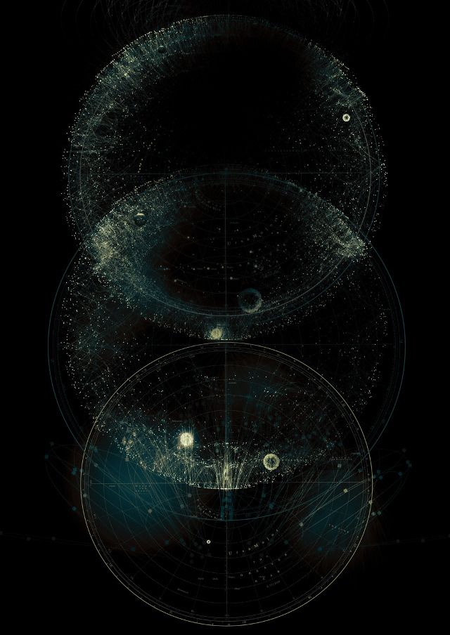 CHAOS AND STRUCTURE / Star Maps www.complexitygraphics.com by Tatiana Plakhova