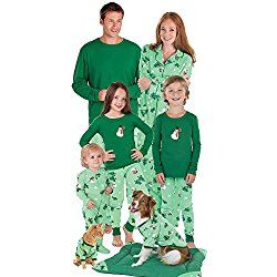 Let it Snow, Man! Matching Family (including dog) Christmas Pajamas Men's Large