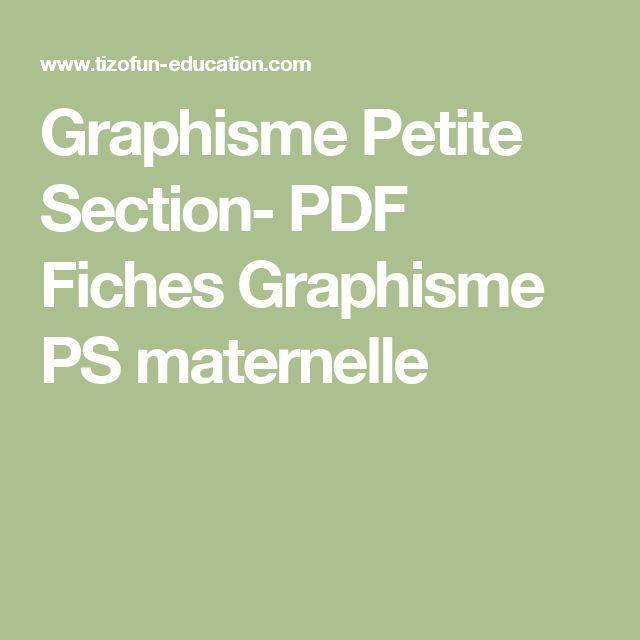 Graphisme Petite Section- PDF Fiches Graphisme PS maternelle